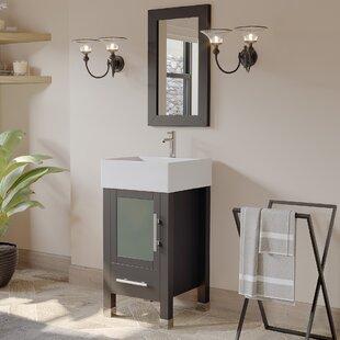 Searle 18 Single Bathroom Vanity Set with Mirror by Latitude Run