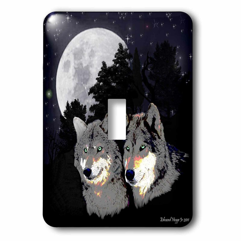3drose Rocky Mountain Wolves 1 Gang Toggle Light Switch Wall Plate Wayfair