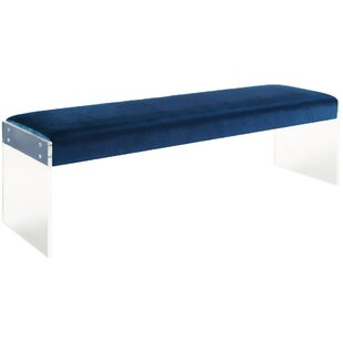 Jeanie Plastic Bench by Everly Quinn