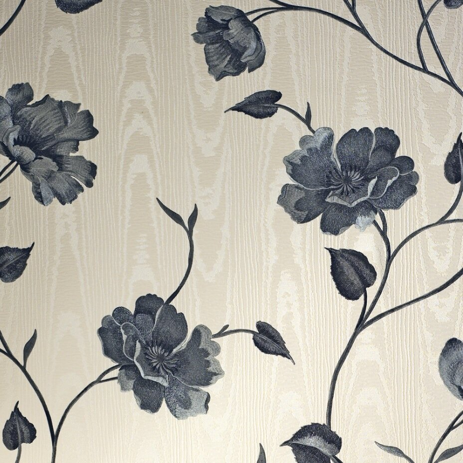 East Urban Home 52cm x 10.5m Nocturnum Leaf 10m x 52cm Wallpaper Roll