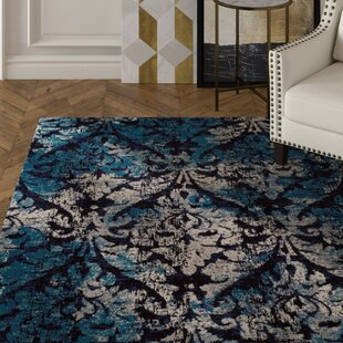 Bethzy Modern Blue Indoor/Outdoor Area Rug