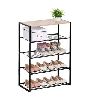 Rebrilliant 12 Pair Shoe Rack