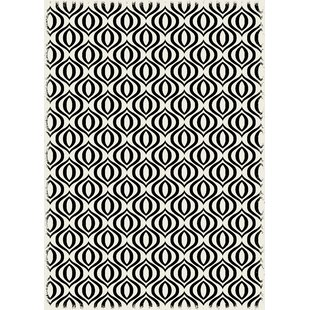 Big Save Chow Black/White Indoor/Outdoor Area Rug By George Oliver