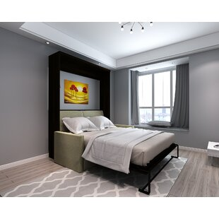 Brass Cannon Queen Upholstered Murphy Bed by Brayden Studio