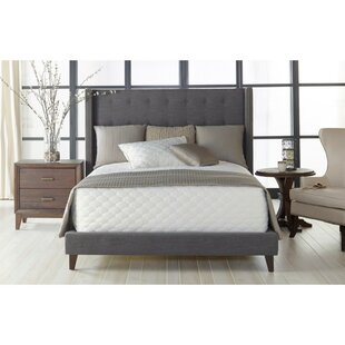 Alexandrea Button Tufted Linen Headboard Upholstered Platform Bed