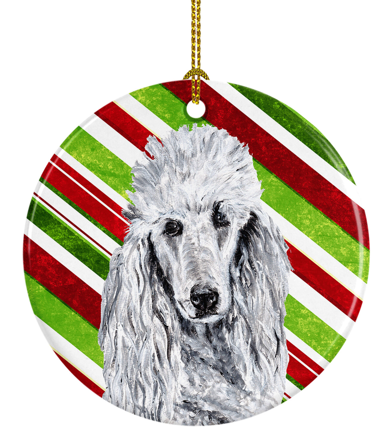 The Holiday Aisle Standard Poodle Christmas Ceramic Hanging Figurine Ornament Wayfair