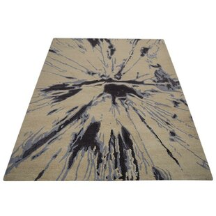 Find for Maryalice Hand-Tufted Wool Beige/Black Area Rug ByWorld Menagerie