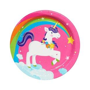 Fairytale Unicorn Party Paper Disposable Dessert Plate
