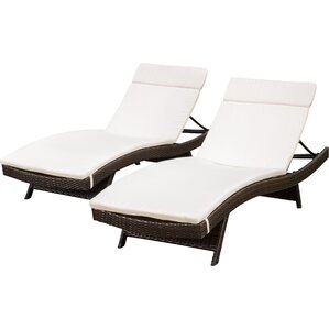 ferrara chaise lounge with cushion set of 2
