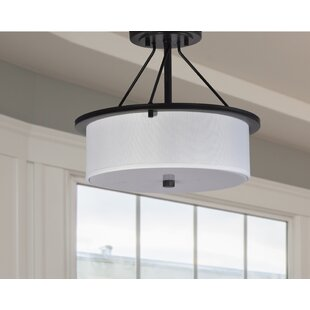 Mcdougle 2-Light Semi Flush Mount by Winston Porter