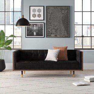 Lancaster Leather Loveseat