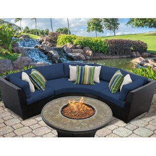 Medley 4 Piece Sectional Seating Group with Cushions