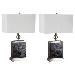 Stinnett Faux Croc 25 Table Lamp (Set of 2)