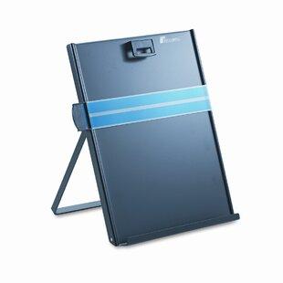 Fellowes Mfg. Co. Kopy-Aid Letter-Size Freestanding Desktop Copyholder, Stainless Steel, Black