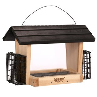 Nature's Way 6-Qt Wild Hopper Bird Feeder With Suet Holder