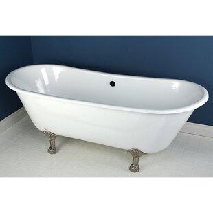Kingston Brass Aqua Eden 67 x 28 Freestanding Soaking Bathtub