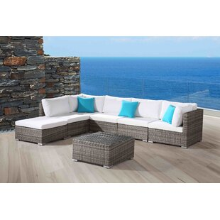 Darby Home Co DeSoto Extended 7 Piece Sectional Seating Group With Cushions