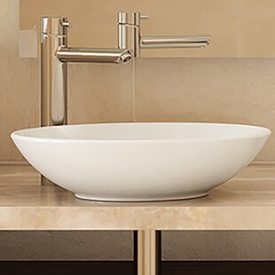 Compare prices Ryenne Classically Redefined Ceramic Circular Vessel Bathroom Sink By DECOLAV