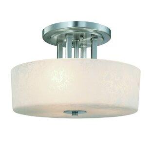 Dolan Designs Uptown 3-Light Semi Flush Mount