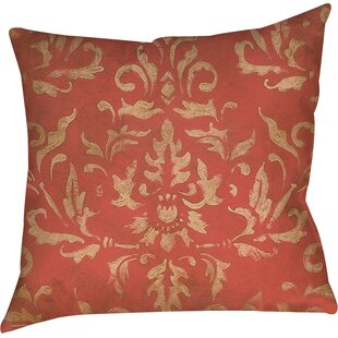 Golden Baroque Printed Throw Pillow by Manual Woodworkers & Weavers Savings
