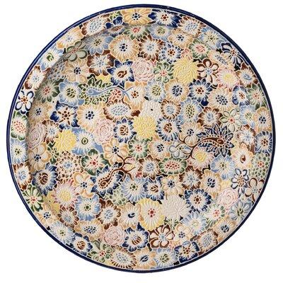 """Emissary Flora Round 18"""" Dinner Plate"""