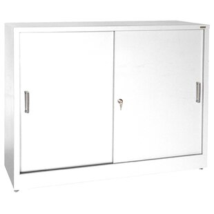 Sliding 2 Door Storage Cabinet by Sandusky Cabinets Today Sale Only