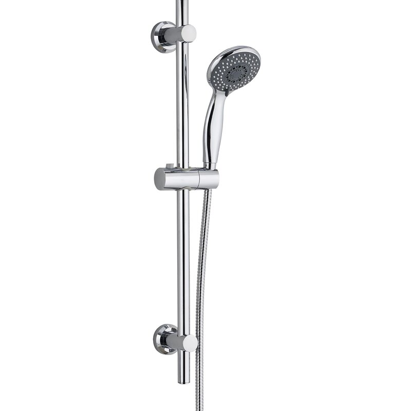 WELS Square Shower Head Handheld Diverter Set Sliding Rail Mixer Tap Bathroom