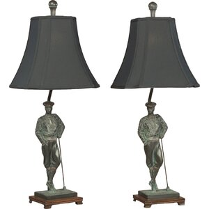 Golfer Leaning  Table Lamp (Set of 2)