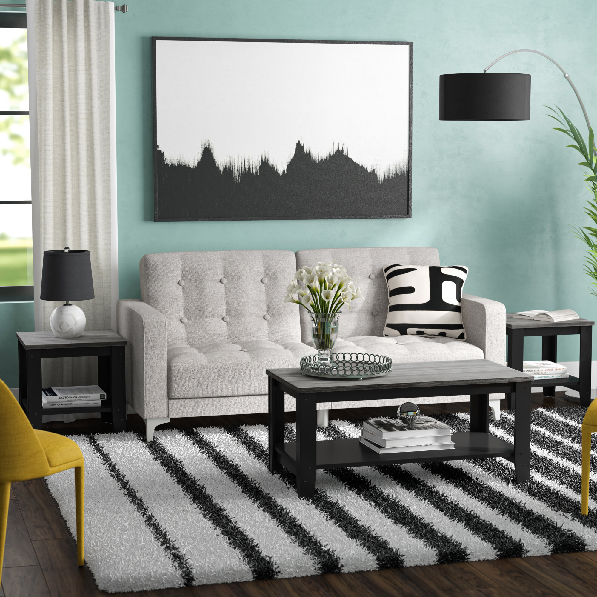 Ebern Designs Sutliff 3 Piece Coffee Table Set Reviews Wayfair