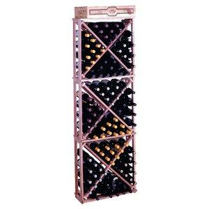 Premium Redwood 132 Bottle Floor Wine Rack