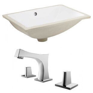 Shopping for Ceramic Rectangular Undermount Bathroom Sink with Faucet and Overflow By Royal Purple Bath Kitchen