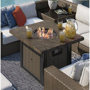 Bloomsbury Market Barnfield Aluminum Propane Fire Pit Table