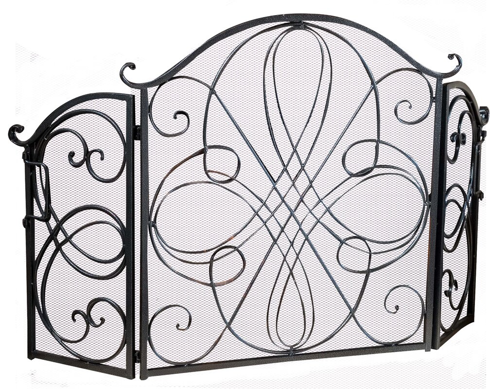 Black Iron Fireplace Screen. Oxford 3 Panel Iron Fireplace Screen Home Loft Concepts  Reviews