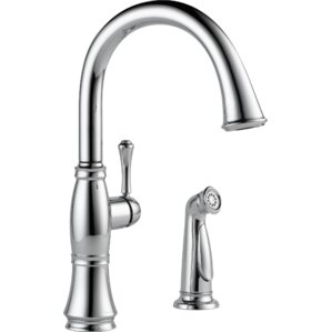 Delta Cassidy Single Handle Standard Kitchen Faucet with Spray