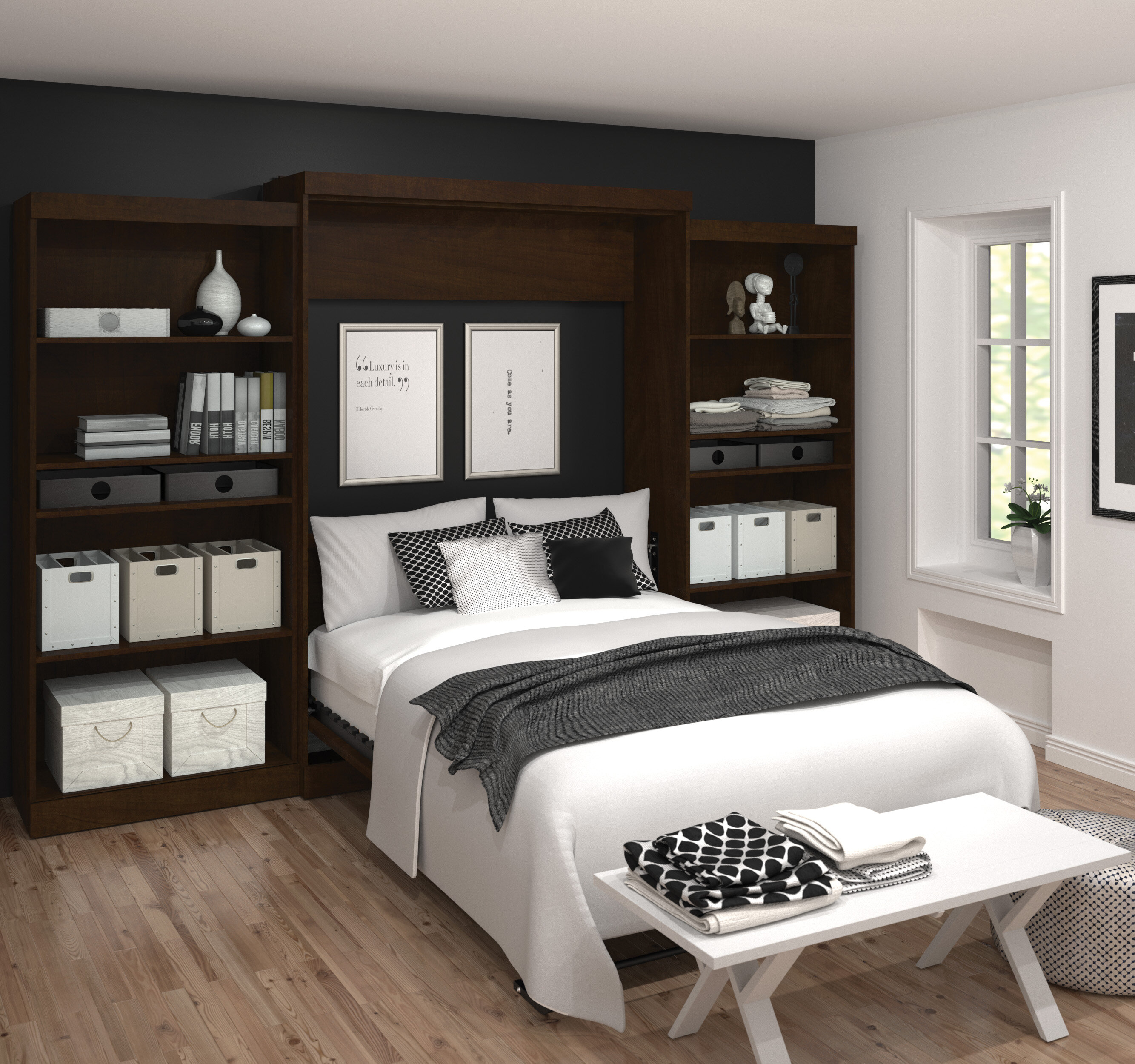 Zipcode Design Aubrielle Queen Murphy Bed Reviews Wayfair