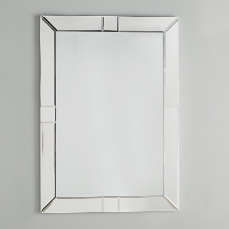 Beveled Wall Mirror willa arlo interiors rectangle beveled wall mirror & reviews | wayfair