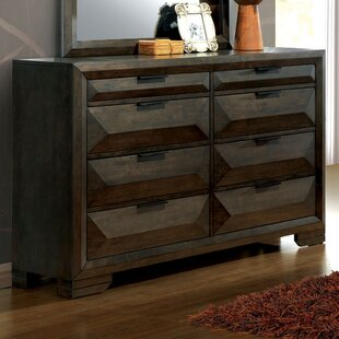 Bender Contemporary 8 Drawer Double Dresser