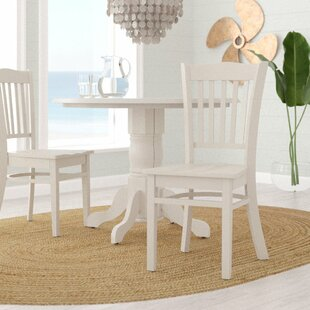 Beachcrest Home Langwater Solid Wood Dining Chair (Set of 2)