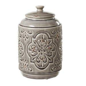 Embossed Medallion Storage Jar