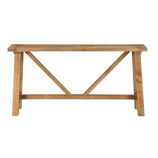Williston Forge Ozuna Pine Console Table