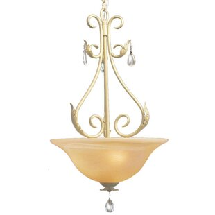 Astoria Grand Mcglothlin 3-Light Bowl Pendant