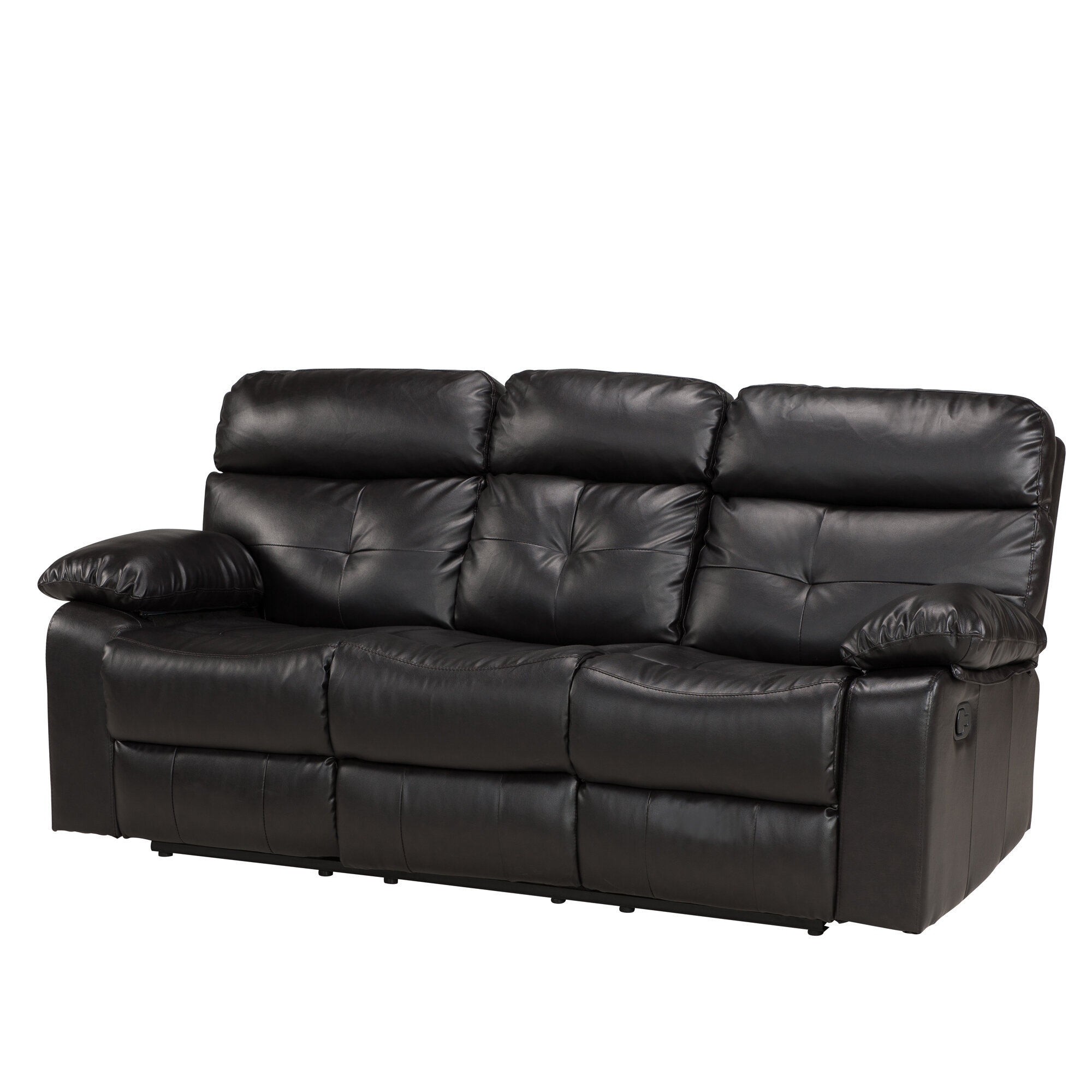 fine coaster faux myleene sofa shop leather recliner casual reclining pd coffee furniture