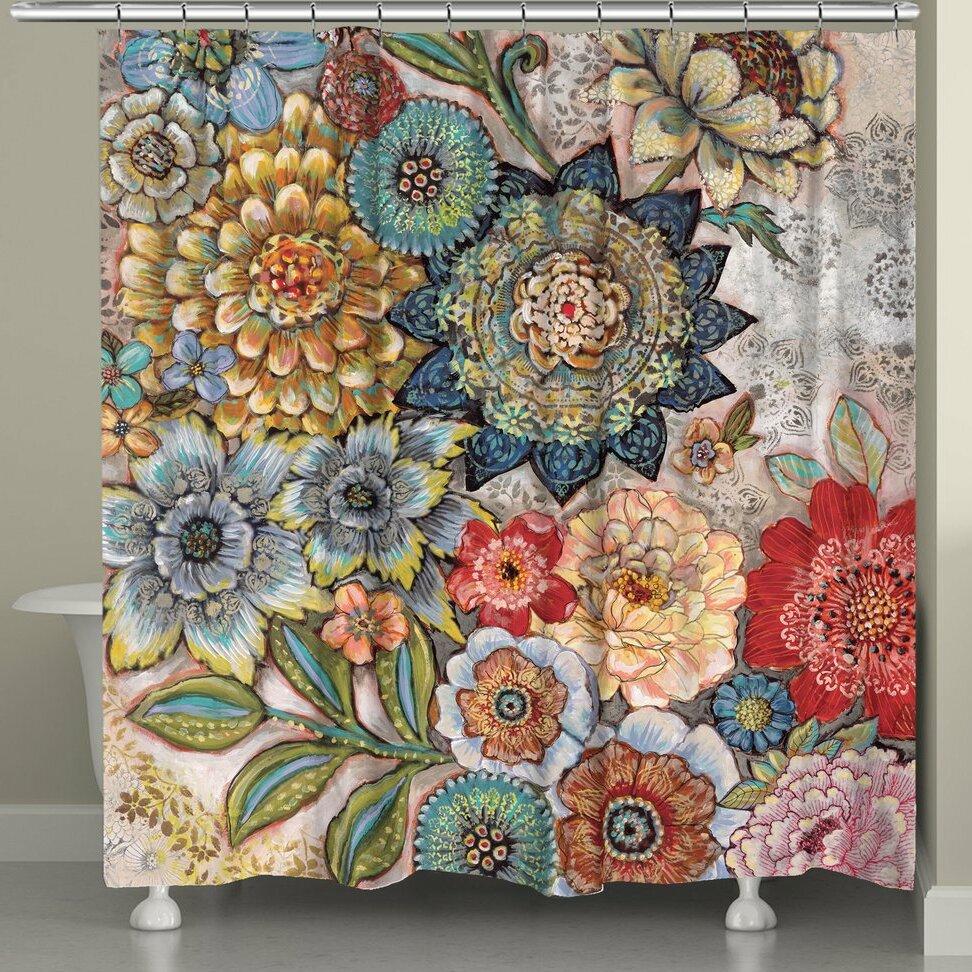 World Menagerie Aidan Boho Bouquet Shower Curtain Reviews
