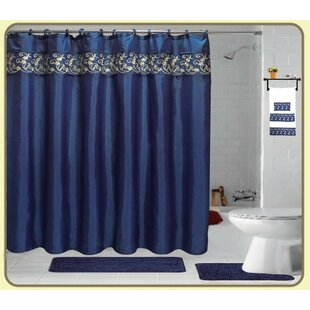 Veatch Embroidery 18 Piece Bath Rug Set