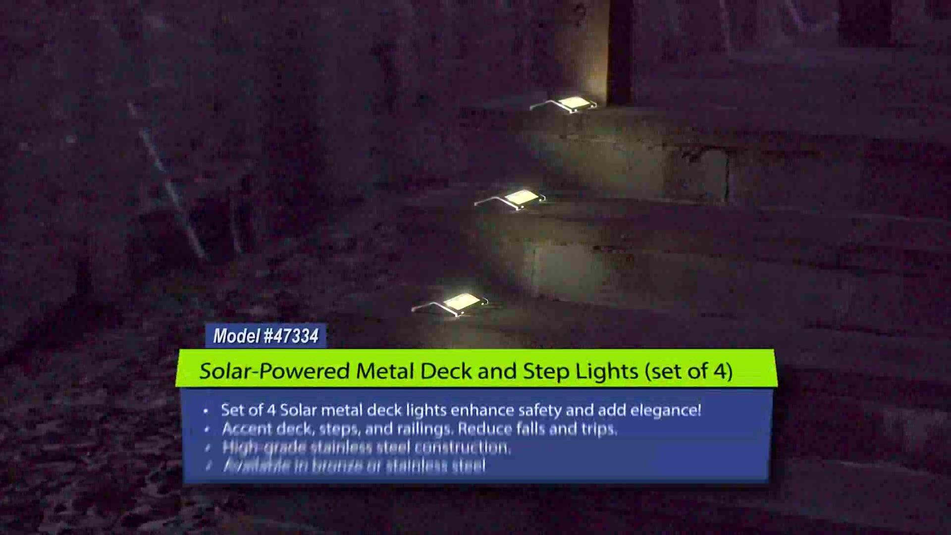 Beautiful solar Deck Rail Lights