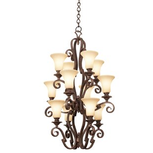 Kalco Ibiza 12-Light Shaded Chandelier