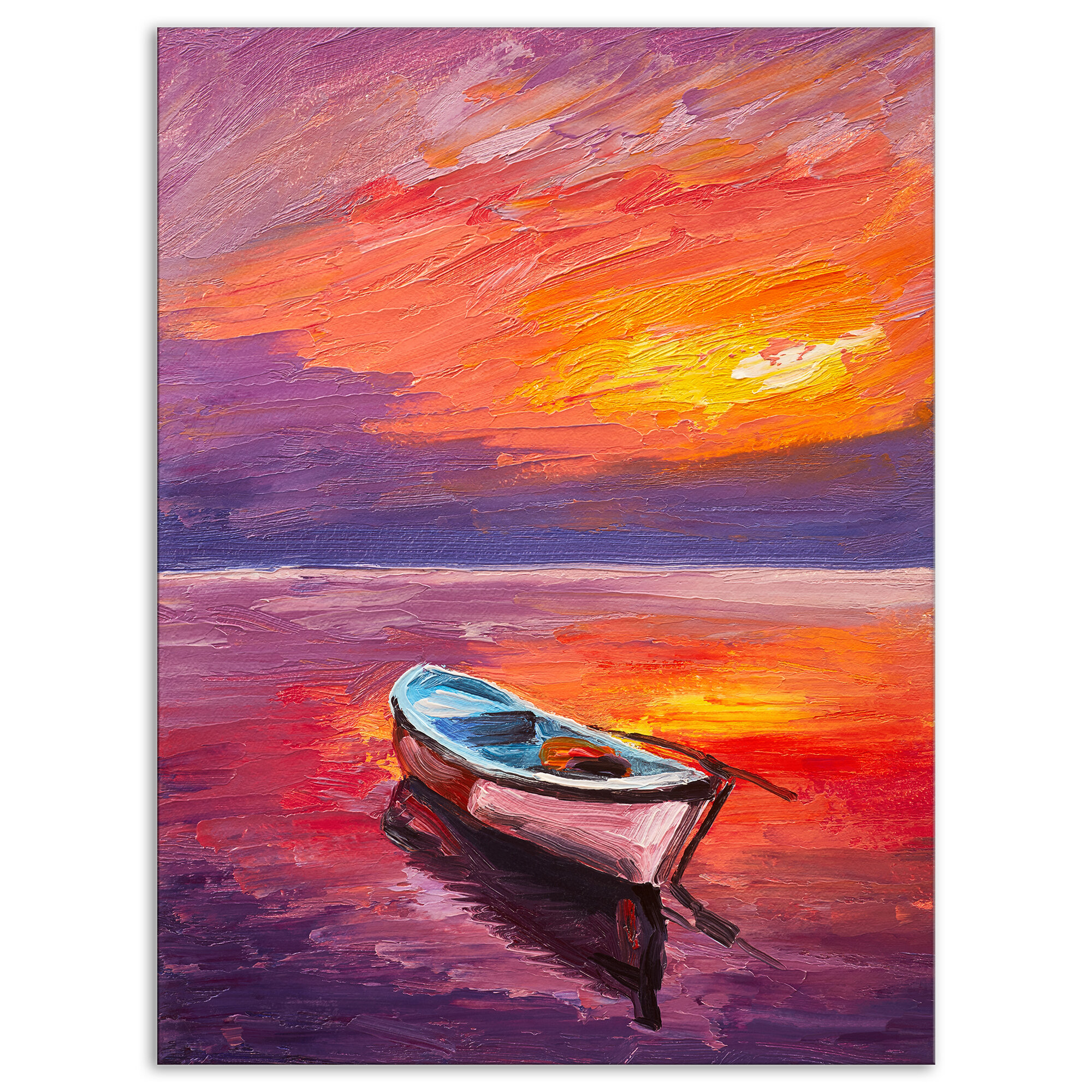 1593 Wall decor Poster Boats at sunset.Poetic Art Design.Home Room Home art