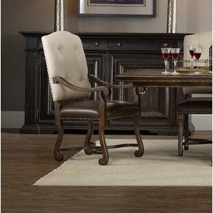 Treviso Upholstered Dining Arm Chair (Set of 2) Hooker Furniture