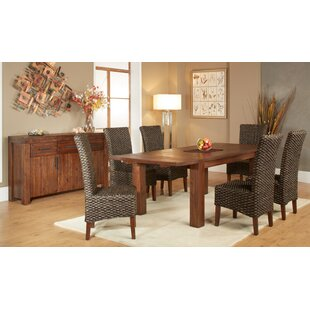 Gibson 7 Piece Extendable Solid Wood Dining Set
