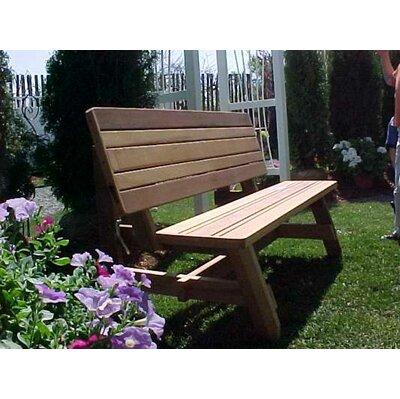 Wood Country Herman Convertible Garden Bench